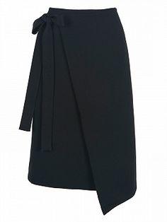 Shop Black High Waist Asymmetric Wrap Skirt from choies.com .Free shipping Worldwide.$28.9