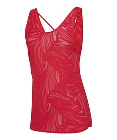Loving this PUMA Cerise Gym Loose Layering Tank on #zulily! #zulilyfinds