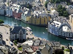 Beauty of Alesund town Norway