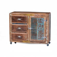 Fridge Reclaimed Wood Sideboard Cabinets & Sideboards Smithers of Stamford Store UK, US, EU Antique Furniture, Cool Furniture, Furniture Design, Vintage Bunting, Shabby, Sideboard Cabinet, Vintage Industrial, Vintage Designs, Solid Wood