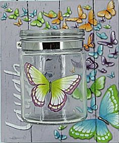 Laugh Bliss jar candle Holder by Lisa Pollock Jar Candle, Soy Candles, Candle Holders, Metal Garden Art, Beach House Decor, Home Decor, Bar Signs, Bath Bombs, Light Up