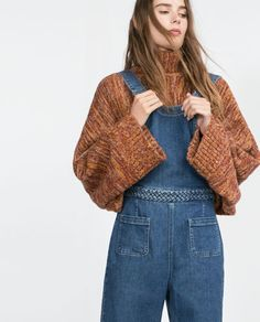Image 2 of DENIM DUNGAREES from Zara