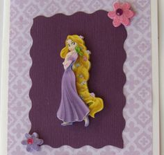 Princess rapunzel birthday handmade card cards disney princesses 3d rapunzel birthday card personalized disney princess birthday handmade card designsbyalia on bookmarktalkfo Image collections