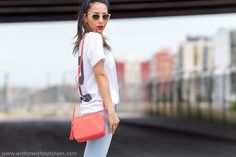 GiGi New York | Madison Salmon Crossbody | With Or Without Shoes Fashion Blog