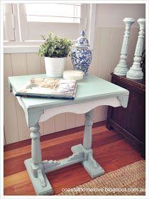 Coastal Home Love: Sweet Vintage Table in Annie Sloan Duck Egg