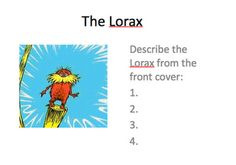 Free! The Lorax Unit!! Targets vocab, describing, compare/contrast, sequencing! From If I Only had Superpowers!