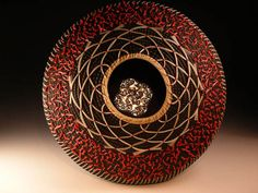 """Jane Chavez  El Coralino (Coral-like)  5"""" x 9.5"""" diameter  The Vessel Redefined 2011  August 6th - 27th  The National Basketry Organization 6th Biennial Conference is the impetus and inspiration for The Vessel Redefined 2011"""