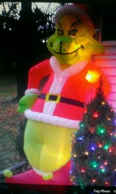 grinch inflatable