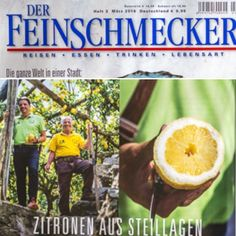 """Today .... I & Gigino and our #Amalfi's #Lemons on the #German #Journal of #Gourmet """"Der Feinschmecker"""" of March, 2016!!! Very very very happy & proud!!!! ☀️✨"""