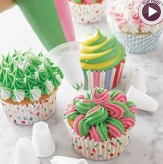 this unique icing tip lets you pipe two colors at once, giving you twice the decorating creativity