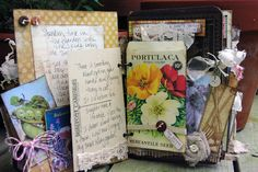 awesome garden journal by blessed and distressed