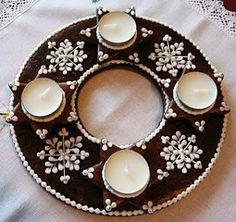 Advent Wreath, Bread And Pastries, Biscotti, Gingerbread, Cookies, Sugar Art, Crafts, Christmas Cookies, Ginger Beard