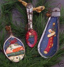 spoon ornaments; repurposed items make great ornaments!