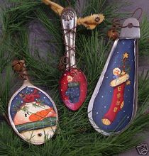 spoon ornaments; repurposed items make great ornaments!