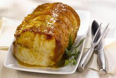 This pork roast is well-seasoned with a savory mixture of herbs and spices, making for a flavorful pork loin roast slow cooked to perfection.