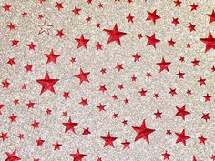 "8""x10"" Fine Red STARS on SILVER GLITTER (not chunky)  Fabric applied to Leather 4.5-5.5oz/ 1.8-2.2 mm PeggySueAlso™ E4355-23 by PeggySueAlso on Etsy Leather Industry, Silver Glitter, I Shop, Flaws, Trending Outfits, Kids Rugs, Unique Jewelry, Handmade Gifts, Fabric"
