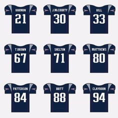 "d71695ab68a New England Patriots Fan Page on Instagram: ""New Jersey Numbers! (No  Rookies)"
