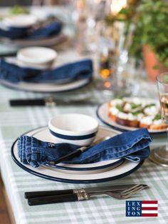 Lexington Serviette Jeans Denim · home go lucky