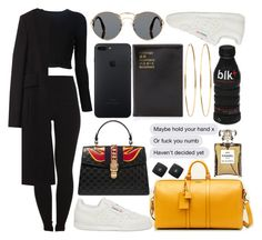 """""""44, 22 you build it up to break it halfway through"""" by hoodprophet ❤ liked on Polyvore featuring Pieces, Proenza Schouler, Alexander Wang, Prada, Gucci, Flight 001 and Jennifer Meyer Jewelry"""