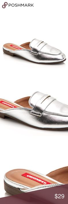 Unionbay Loafer/Mules NWT size 8 1/2 SILVER flats BRAND NEW Silver loafers size 8 1/2 the perfect go to slip-on, looks great with everything! A definite added touch to any outfit! NWT UNIONBAY Shoes