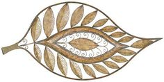 copper home decorative items | LEAF WALL DECOR - Wall Decor