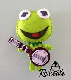 #fiabe #favole #pannolenci # feltro #felt #creazioni #calamite #portachiavi #handmade #fattoamano #reikoale #kermit #personaggi #muppets #muppetshow
