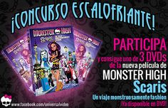 Concurso: DVDs Monster High Scaris, un viaje monstruosamente fashion http://www.grandesypeques.com/index.php/concursos/item/402-concurso-monsterhigh #Concursos #Grandesypeques
