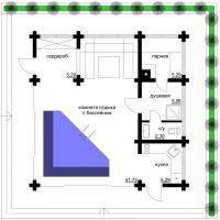 Проект бани «Ласточка-2» | Проекты бань и саун