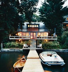 Ahh lake house. Someday :) The perfect lake house