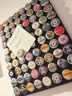 80 Bottles of Beer on the Wall Upcycled Magnet por SchickieMickie