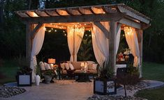 With holidays kind of out of the question right now, the next best thing could be creating your perfect own perfect hideaway in your backyard. Holiday at home with this DIY Balinese-inspired tropical oasis. Diy Pergola, Cedar Pergola, Building A Pergola, Pergola Curtains, Garden Gazebo, Pergola With Roof, Backyard Patio Designs, Wooden Pergola, Outdoor Pergola