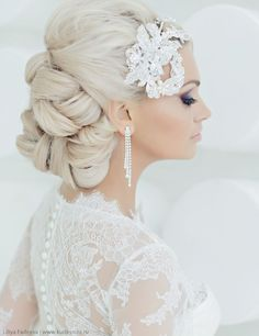 updo wedding hairstyle idea; via Websalon Weddings