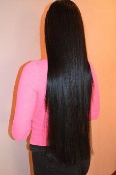 shining black hair