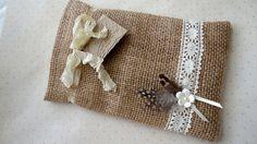 Burlap Gift Bag Embossed Birds Gift Tag by DreamJewelrySupplies, $4.99