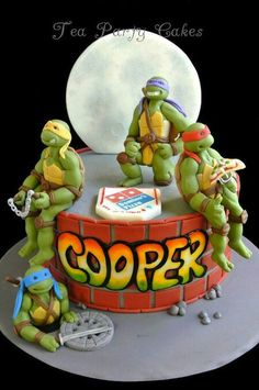 The TMNT cake I'm gonna hve made this yr 4 my sonz 5th birthday!