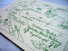 Custom wedding map to helps guests find their way around the French Quarter