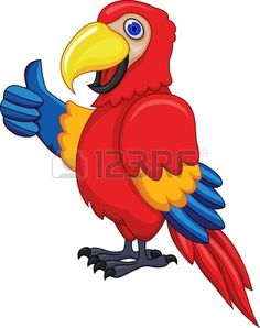 Funny Parrot Stock Vector