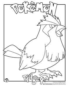 Pidgey Coloring Page. Pokemon Craft ...