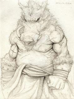 Wild Boar Fighter // by Kimsuyeong81.deviantart.com