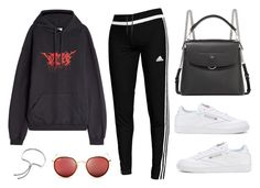 """Untitled #22336"" by florencia95 ❤ liked on Polyvore featuring adidas, Vetements, Fendi, Reebok, Ray-Ban and Monica Vinader"