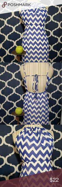 🌻🌺🌻BEAUTIFUL CHEVRON SHEER MAXI DRESS WITH SLIT SIZE:small   BRAND:no tag   CONDITION:like new   COLOR:blue and white   Full length with slit on both sides. Rouched neck. Has underlay to above knees, then sheer.   🌟POSH AMBASSADOR, BUY WITH CONFIDENCE!   🌟CHECK OUT MY OTHER ITEMS TO BUNDLE AND SAVE ON SHIPPING!   🌟OFFERS WELCOME!   🌟FAST SHIPPING! Dresses