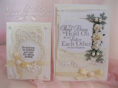 Two lovely designs made with Border dies from Spellbinders ... and a vidoe to show you how to make them work for you