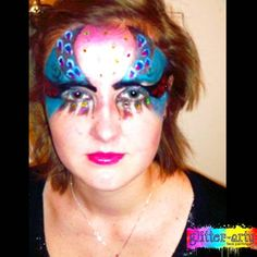Sci-fi inspired arty make-up by Glitter-Arty Face Painting, Bedford, Bedfordshire