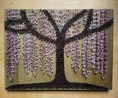 """22 Likes, 6 Comments - Madera del Soul (@maderadelsoul) on Instagram: """"New listing! Weeping Cherry Willow Tree madera. #stringart #weepingwillow #weepingcherryblossom…"""""""