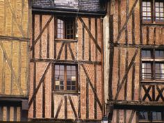 """Half-Timbered Houses in the Old Town of Tours, Indre-et-Loire were Madame de la Tour du Pin returned """"to improve his ( their) children's fortunes."""""""