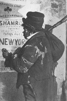 Racism in 19th C NY: An 1854 caricature of an Irish immigrant in Dublin.