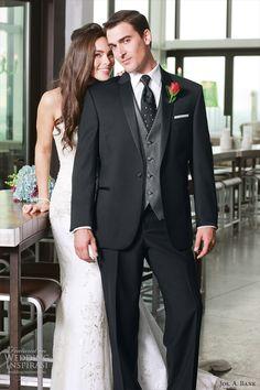 jos a bank slim fitted tuxedo genesis 901 mens wedding suit