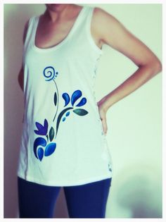 My handmade flower t-shirt! You can find it on Etsy!