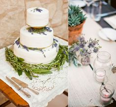 Cake love: a rustic lavender and rosemary wedding cake