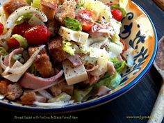 Bread Salad with Gruyere & Black Forest Ham. This salad is delicious with Mr. Mozzie's black forest ham!